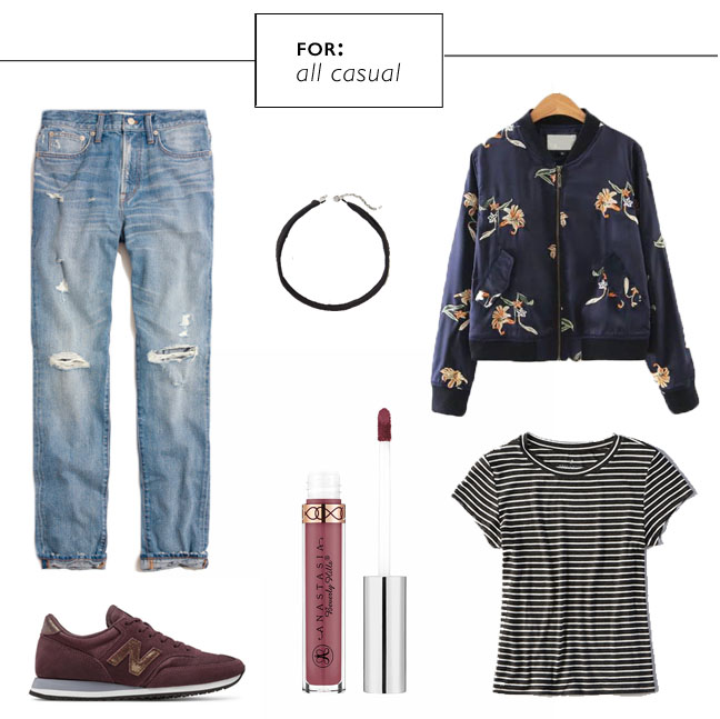 Bomber jacket outfits for a casual look