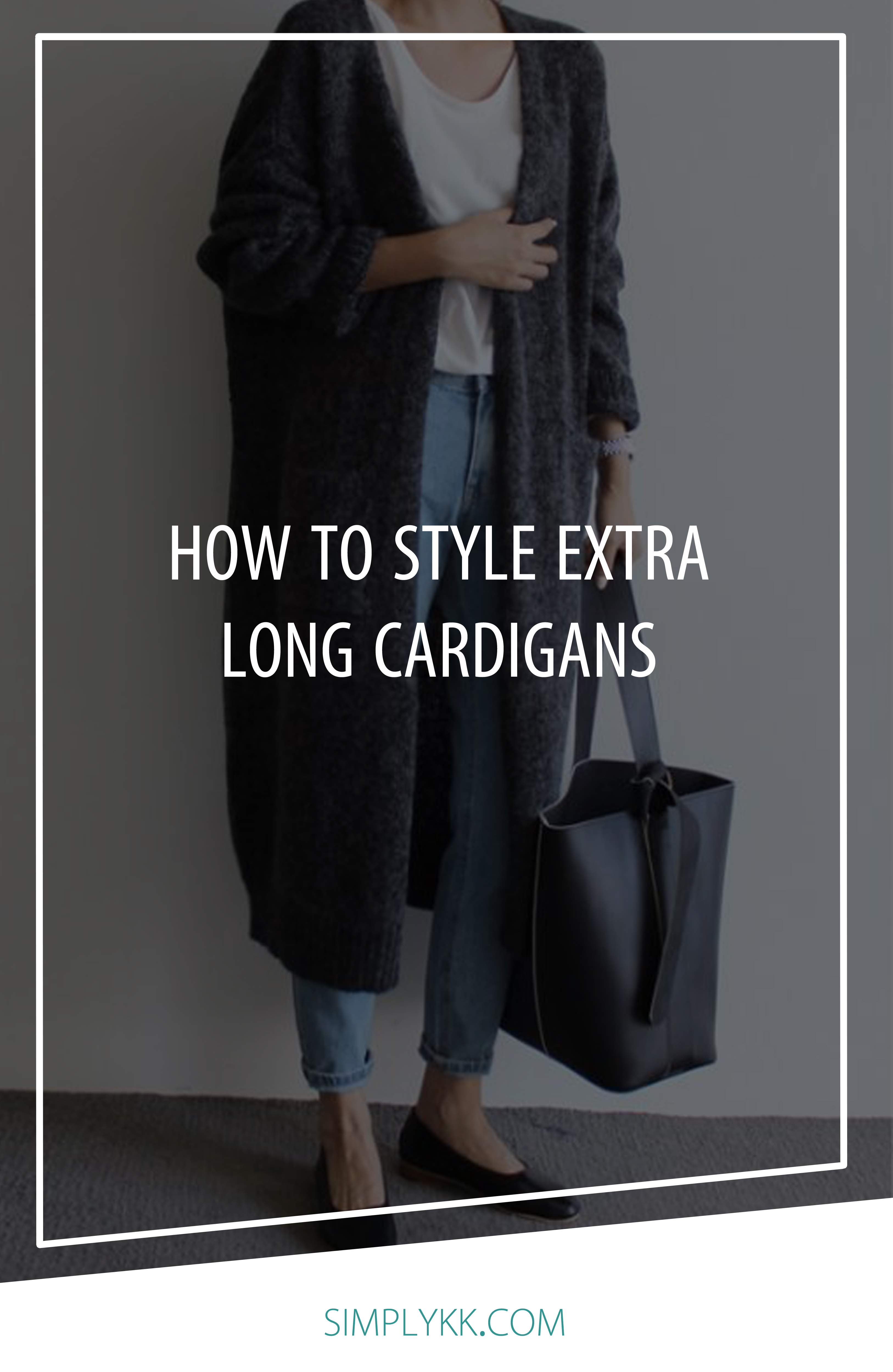 The art of styling an extra long cardigan.