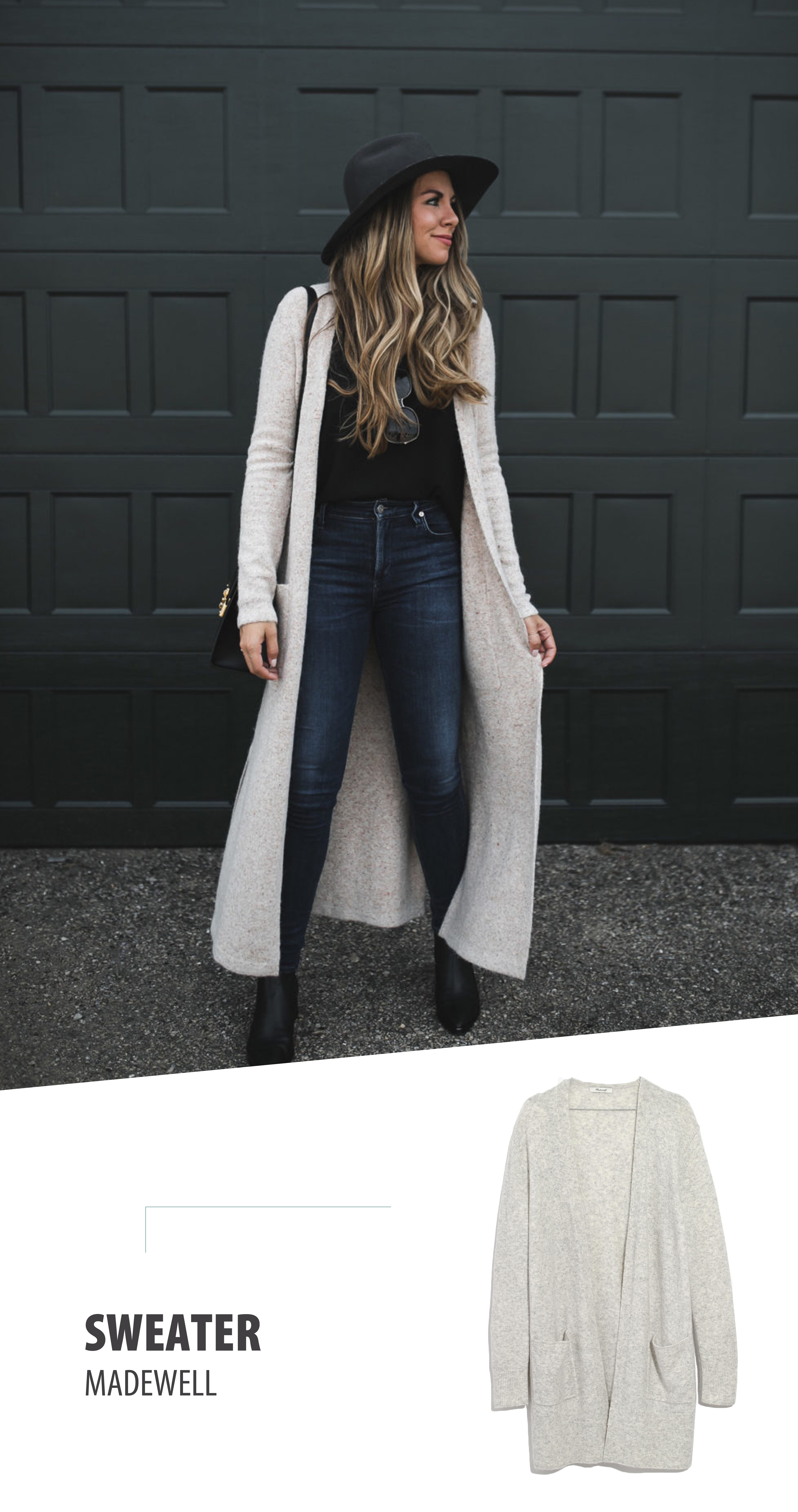 How to style extra long cardigans | Balance it.
