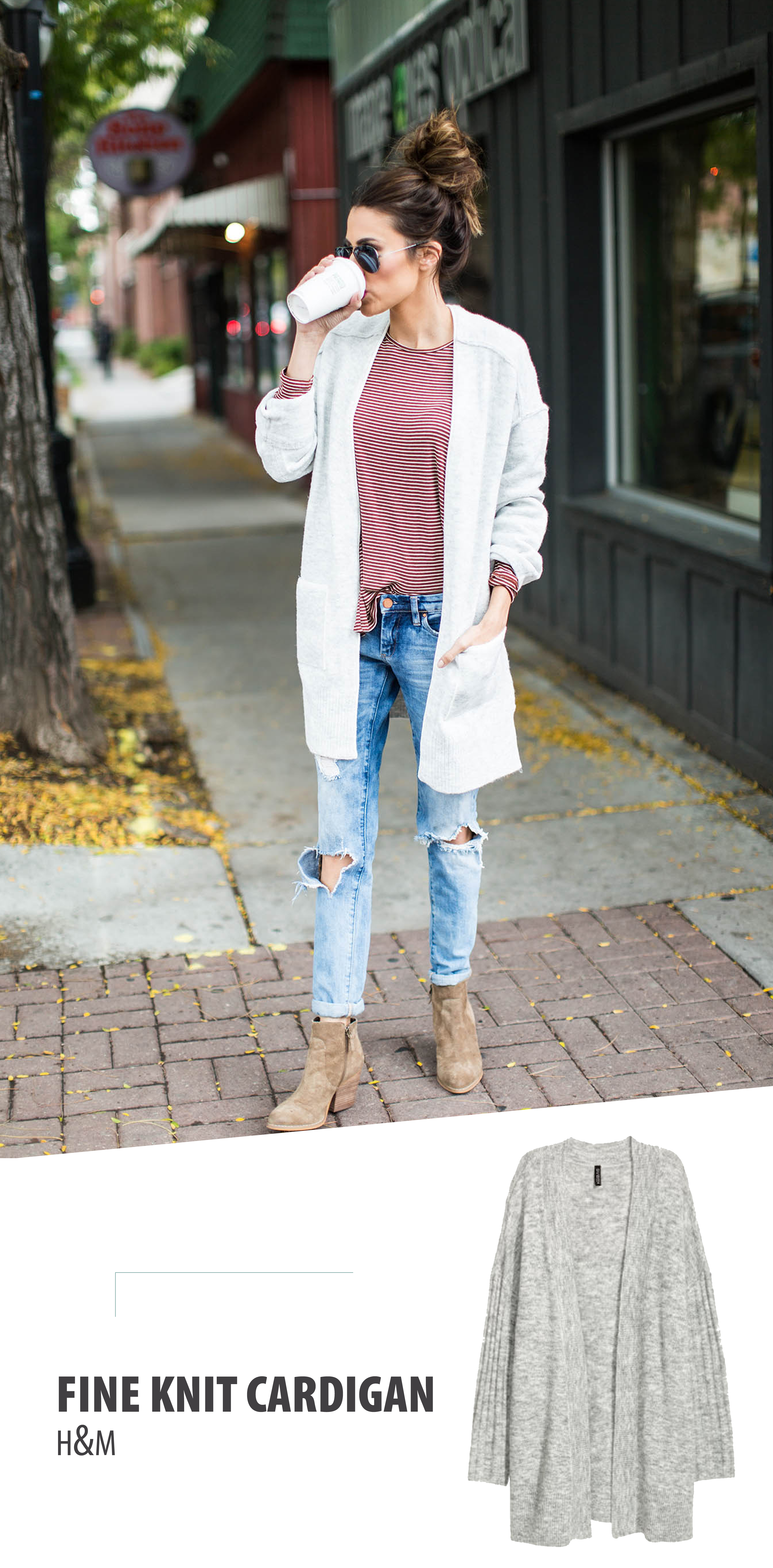 How to style extra long cardigans | Pick your shoes and go with it.