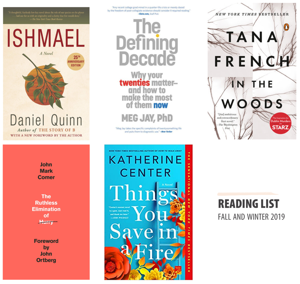 books for fall and winter 2019