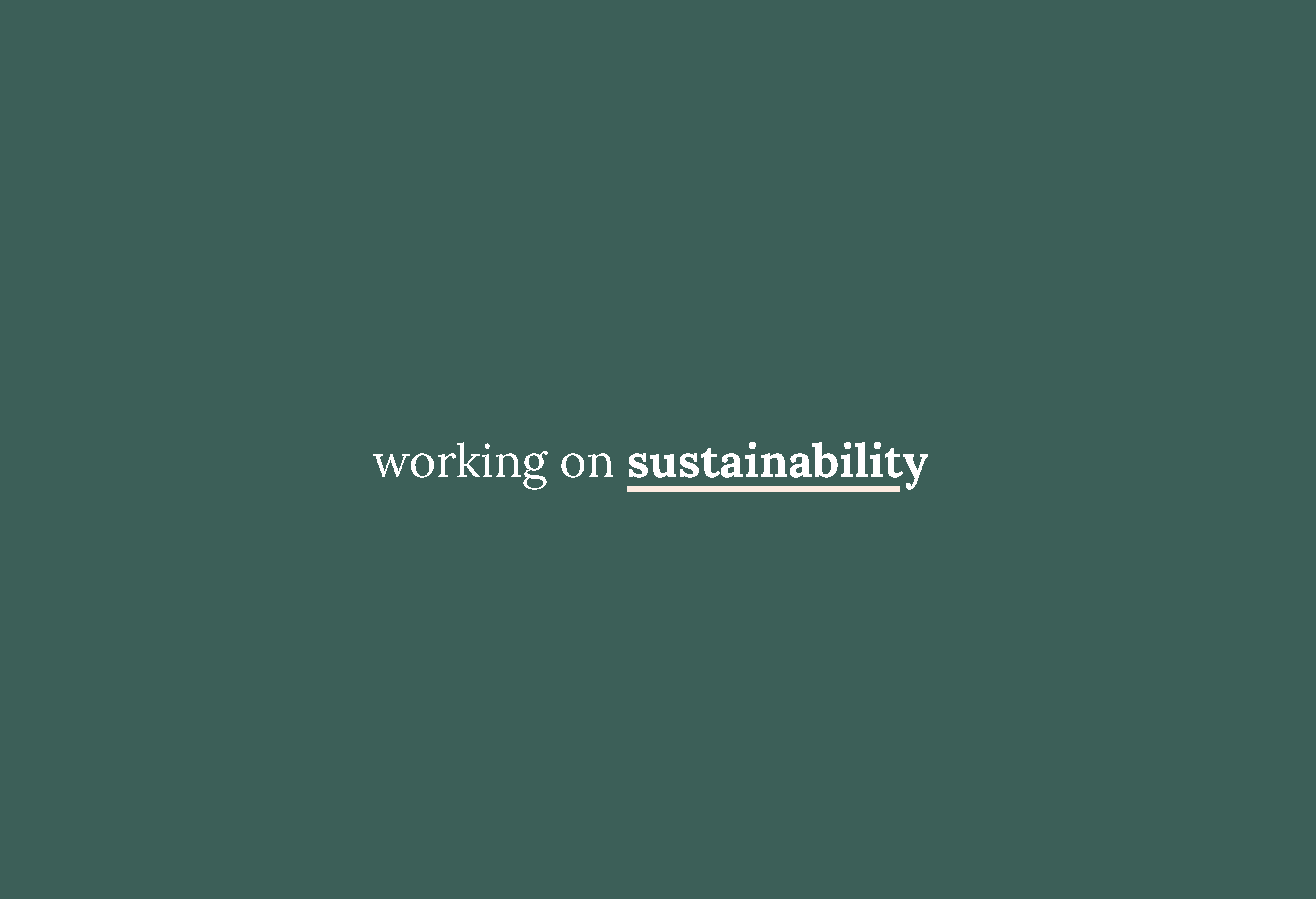 three ways I'm working on my sustainability.